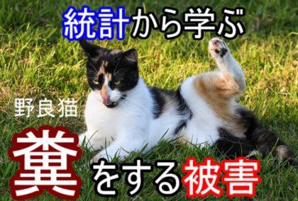 統計から学ぶ-野良猫の糞被害
